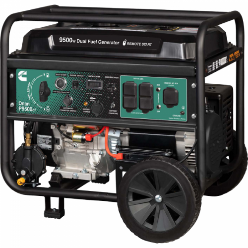 P9500df Dual Fuel (Gas/LPG) Portable Generator