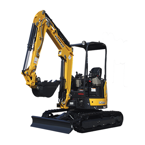Compact Excavator Rubber Tracks - Cabin