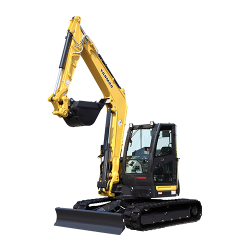 Compact Excavator Rubber Tracks - Cabin Air