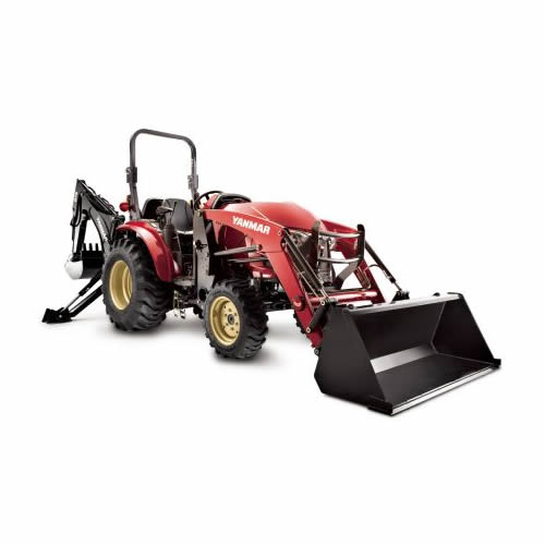 Compact Tractor - 35HP - Cabin, Loader and Backhoe