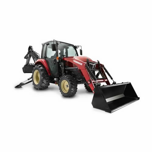 Compact Tractor - 47HP - Cabin, Loader and Backhoe