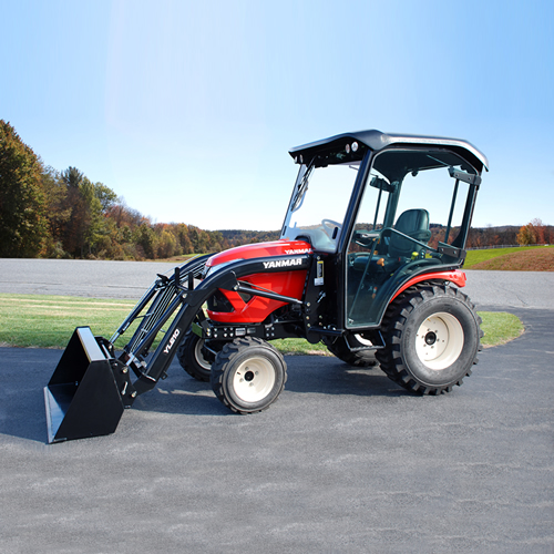 Compact Tractor - 24HP - Loader and Glass Cabin